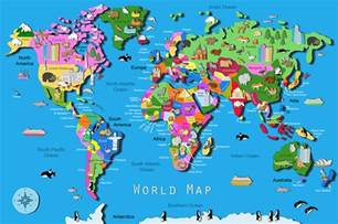 Map Of The World For Kids by Its S A Jungle In Here Kids World Map