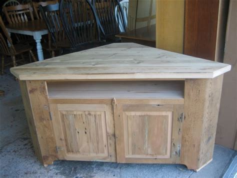 barn wood corner tv stand corner tv riser