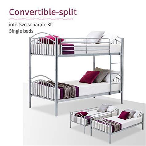 lagrima bunk beds convertible metal bunk