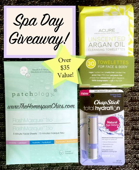 Spa Giveaway - spa day giveaway ends 3 17 the homespun chics