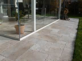 travertin terrasse kundenfoto travertin platten medium verlegt auf terrasse