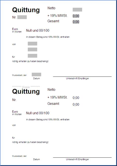 Word 2010 Vorlage Quittung Quittungsvorlage New Calendar Template Site