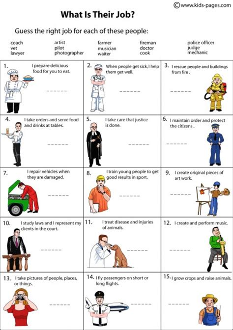 free printable english worksheets occupations free jobs and occupations coloring pages