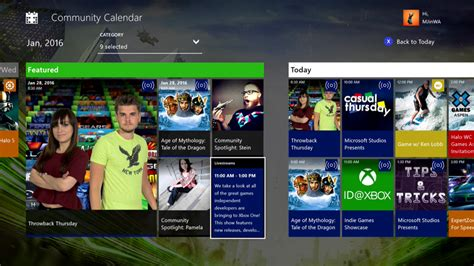 Community Calendar Your Community Calendar Is Live On Xbox One Xbox Wire