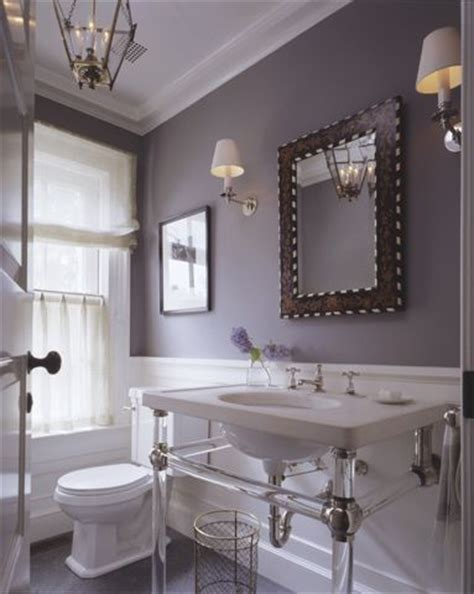 purple gray bathroom grey lavender white bathrooms pinterest