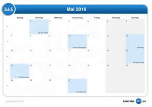 Kalender 2018 Feiertage Im Mai Kalender Mai 2018