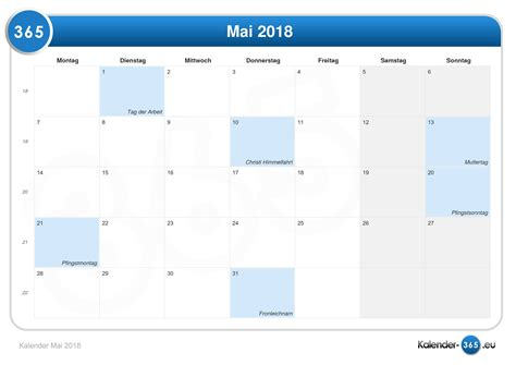 Mai 2018 Kalender Kalender Mai 2018