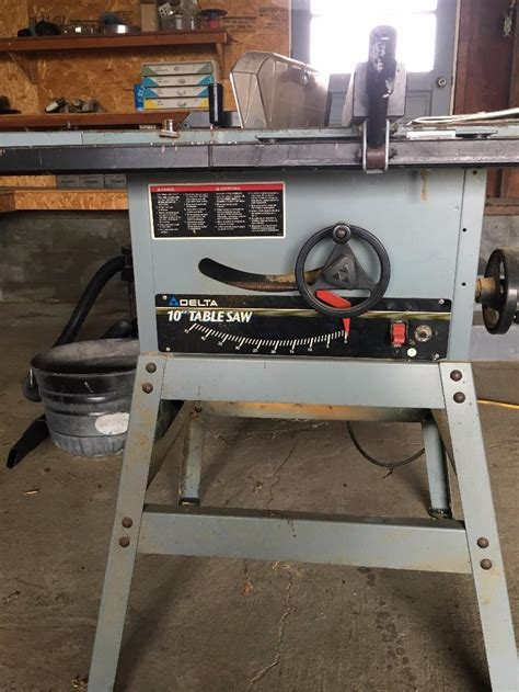 delta 10 table saw fence delta 10 quot table saw complete with rip fence june