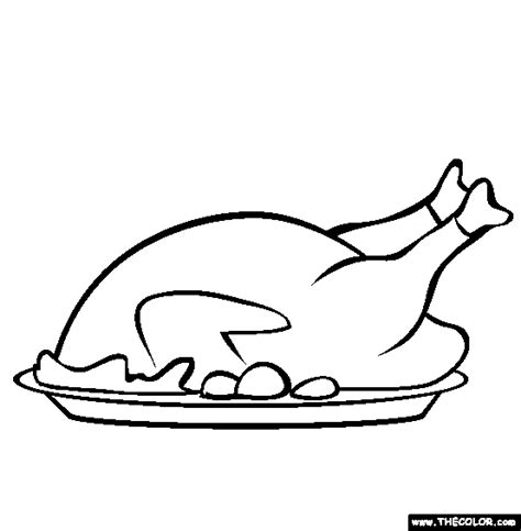 coloring pages of cooked turkey cooked thanksgiving turkey online coloring page
