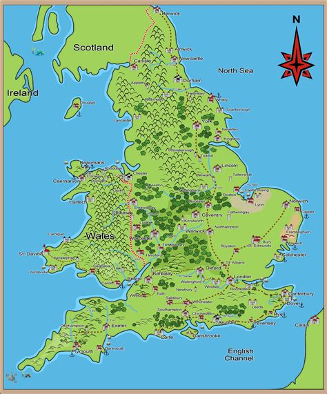 map in uk and middle ages history timelines maps