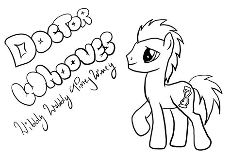 doctor whooves coloring page doctor pictures to color coloring home