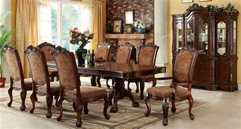 Antiques Dining Room Sets Cromwell Antique Cherry Formal Dining Room Set From Furniture Of America Cm3103t Table