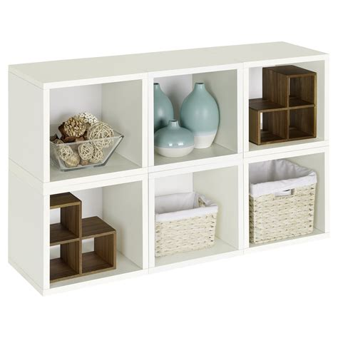 white modular bookcase way basics modular 6 cube bookcase bookcases at hayneedle