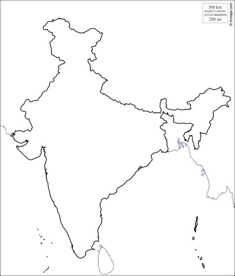 map template free coloring pages of india political outline