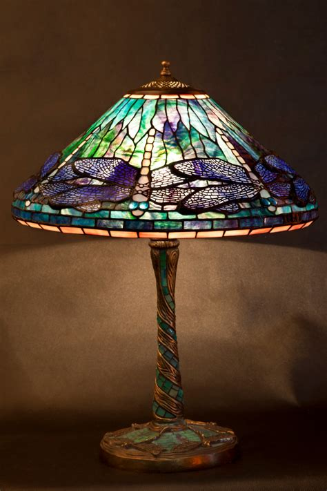 dragonfly stained glass l dragonfly l stained glass tiffany l desk l