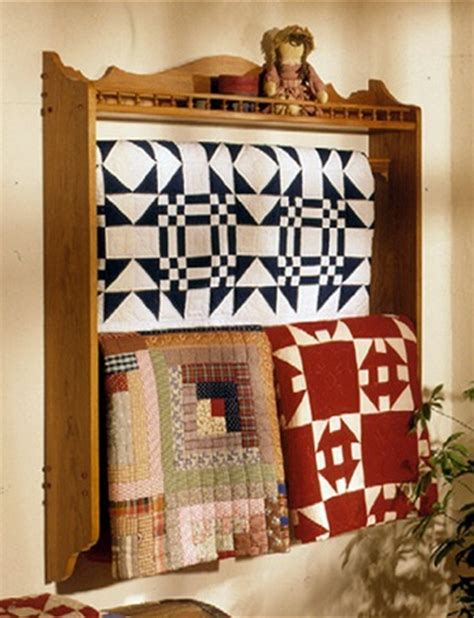 31 md 00022 wall mounted quilt rack woodworking plan
