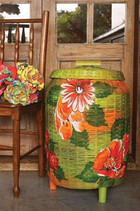 Decoupage Material - decoupage with fabric how to decorate a wicker clothes