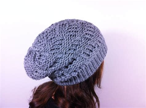 diy knit beanie how to loom knit a basket weave slouchy beanie hat diy