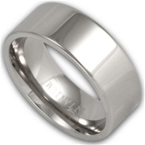 8mm pipe cut mens titanium wedding band shop ring ninja