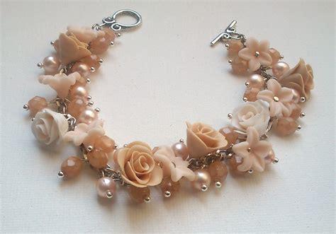Handmade Charm Bracelets - pearl bracelet flower bracelet handmade bracelet by