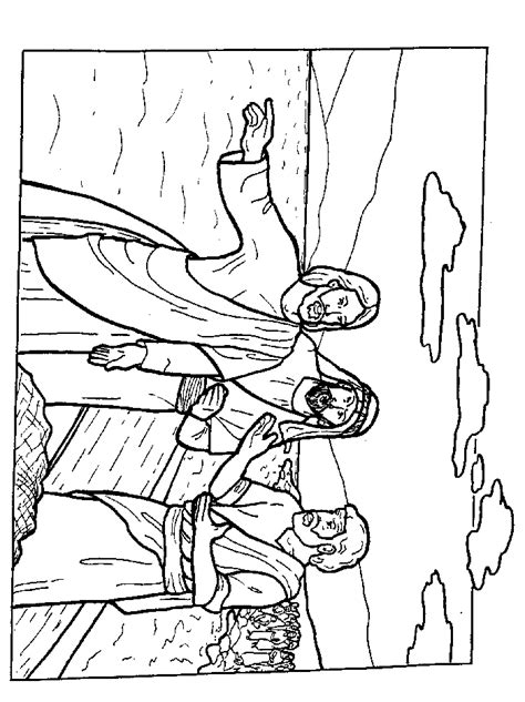free coloring pages of jesus and the fishermen