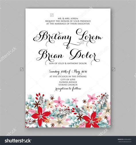 Bridal Shower Card Template Crab by Poinsettia Wedding Invitation Sle Card Beautiful Winter