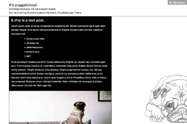 tumblr themes quirky it s puggalicious