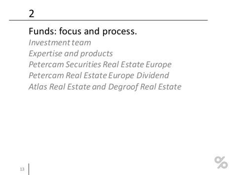Mba Real Estate Europe by Presentaci 243 N Degroof Petercam Funds Experience 2016