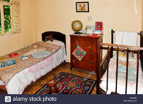 1950s bedroom a 1950s style childrens bedroom with a single bed and a