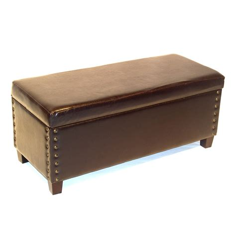 bench ottoman 4d concepts 443747 virginia storage bench ottoman atg stores