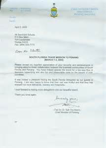 thank you letter from the cheif minister of penang