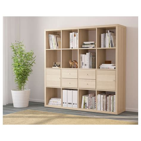 ikea kallax shoe storage kallax shelving unit with 4 inserts white stained oak