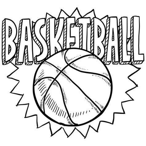 coloring pages with basketball free coloring sheet of basketball for kindergarten