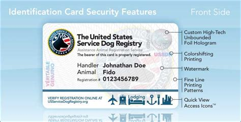 service animal id card template shop