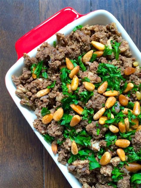 ground beef dish recipes lebanese hushwee ground beef with pine nuts recipe