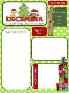 December Newsletter Template by This 2 Page Newsletter Template Is A Powerpoint File That