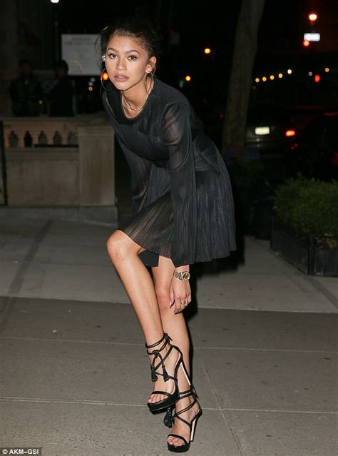 zendaya high heels zendaya rocks stilettos from shoe collection before