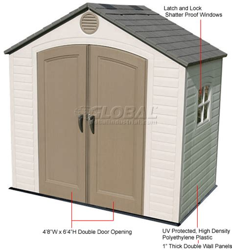 Plastic Shed Windows by Buildings Storage Sheds Sheds Plastic Lifetime 8 X