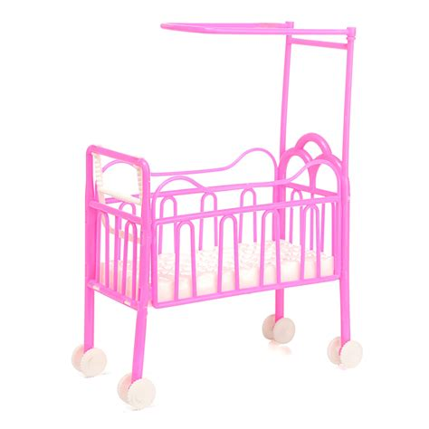doll house bed dolls baby bed for princess dollhouse plastic mini