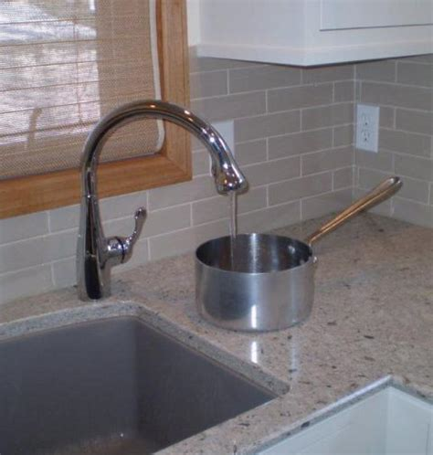Designer Kitchen Faucets single hole faucet placement for undermount sinks