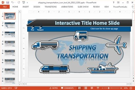 powerpoint templates free transportation shipping icons powerpoint template