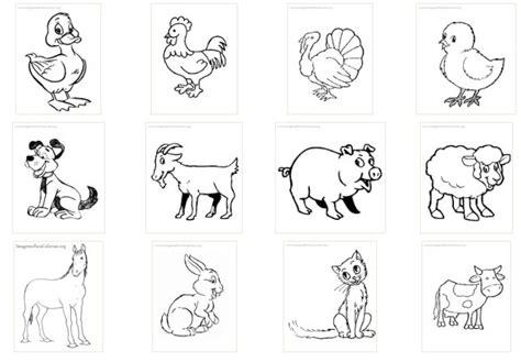 imagenes animales domesticos para imprimir 4 dibujos para colorear de animales domesticos infantiles