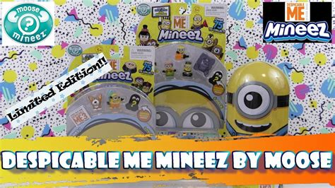 Special Edition Banner Minion despicable me mineez limited edition found minion toys multi pack opening