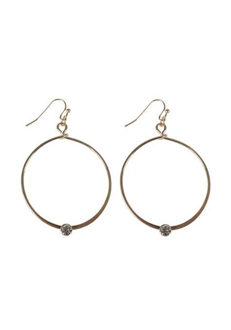 Rhinestone Hoop Earrings rhinestone hoop earring