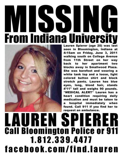 Indiana Find Alert Help Find Spierer Raannt