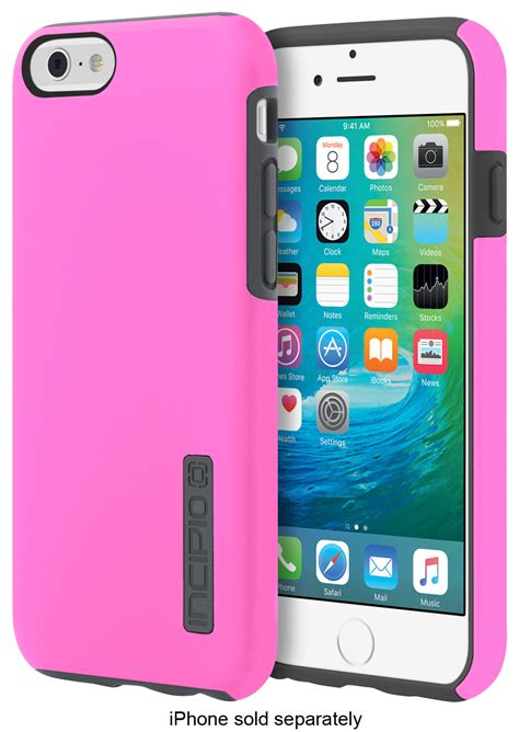 best buy incipio dualpro for apple 174 iphone 174 6 and iphone 6s highlighter pink charcoal iph