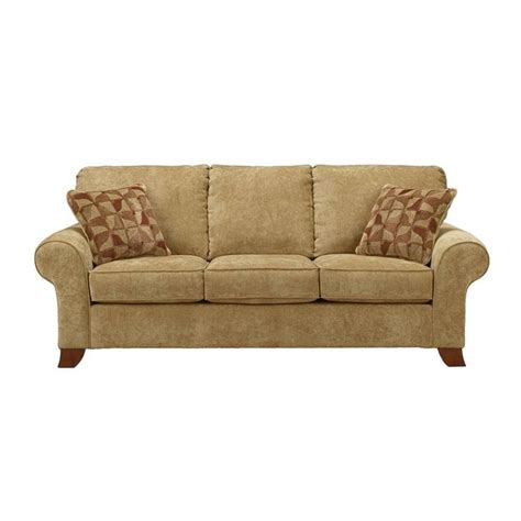 recliners sacramento townhouse tawny sofa w rolled arms by ashley furniture