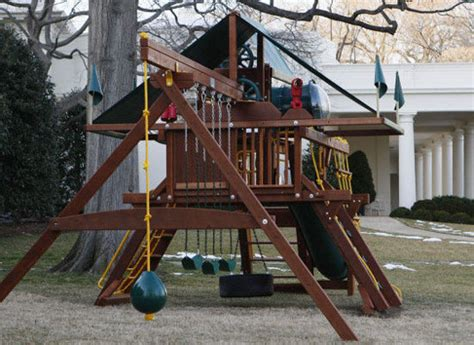 wooden swing sets with installation the obamas install a wooden swing set is it eco friendly