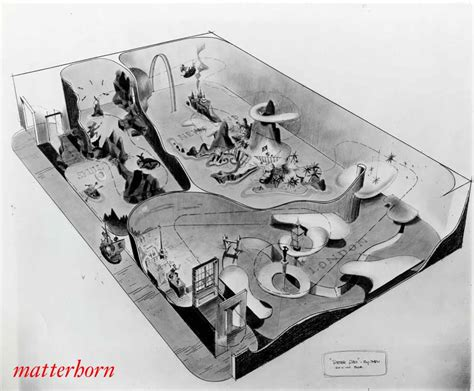 in ride concept 1958 fantasyland stuff from the park bruce bushman pan ride layout