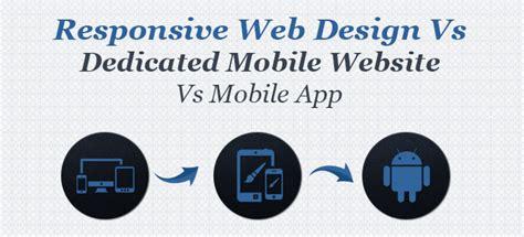 responsive design vs app mobile app vs responsive web design vs dedicated mobile